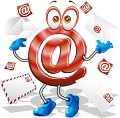 E-Mail Simbolo Cartoon-E-Mail Symbol Cartoon-Vector