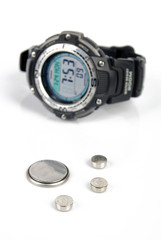Button battery and wrist watch