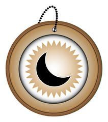 bouton picto icône symbôle web internet blog site lune astre