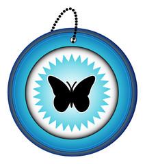 bouton picto icône symbôle web internet blog site papillon