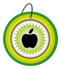 bouton picto icône symbôle web internet blog site pomme