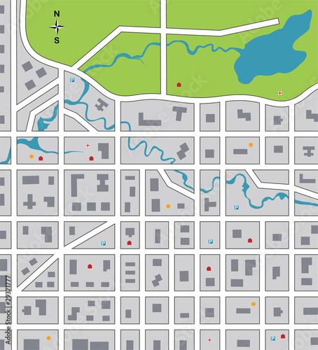 Foto op Plexiglas Op straat vector illustration of abstract city map