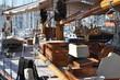 intérieur de yacht de luxe voilier
