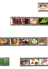 Filmstreifen mit Kosmetik/Wellness-Motiven