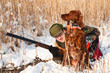 Hunter and his dog waiting for the hunt to show