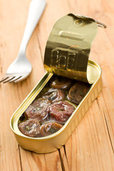rolled anchovy with capers