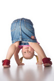 little girl showing her butt