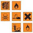Gefahrensymbole Set