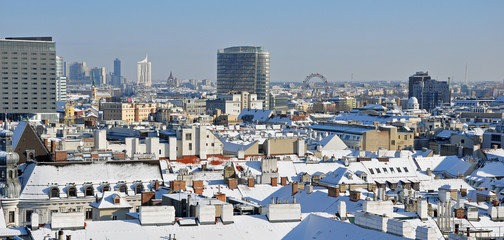 wien - panorama - winter