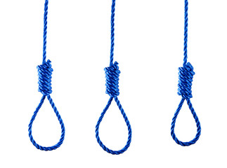 Three Ropes with noose,gallows