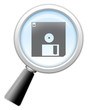 "Magnifying Glass Icon ""Software"""