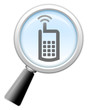 "Magnifying Glass Icon ""Cell Phones"""