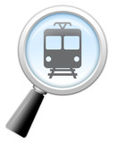 "Magnifying Glass Icon ""Train / Mass Transit"""