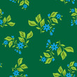 vector dark green floral texture