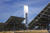 Renewable Green Energy Solar Tower Surrounded by Mirror Panels poster