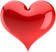 Heart Love red glossy symbol. Valentines day design element
