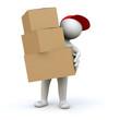 3D Man parcel mail