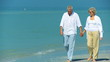 Healthy Seniors Walking the Beach filmed at 60FPS
