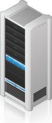 Futuristic Server Rack