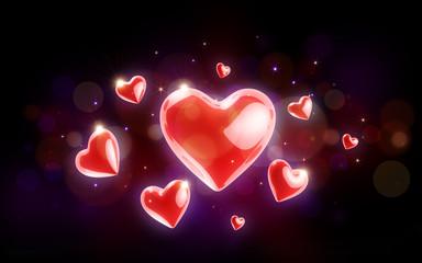 Valentinstagsherzen