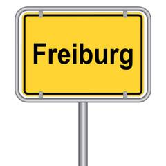 Ortsschild von Freiburg