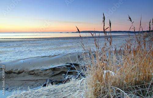 Fototapeten,frosty,strand,wales fahne,uk