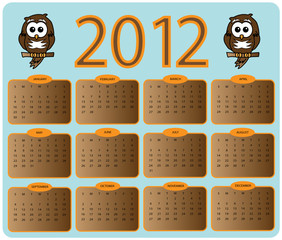 2012 owl calender design