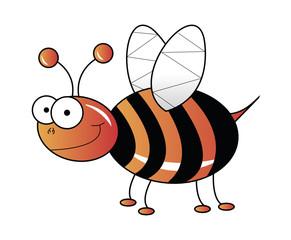 Orange bee vector