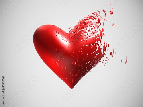 zersprungenes Herz