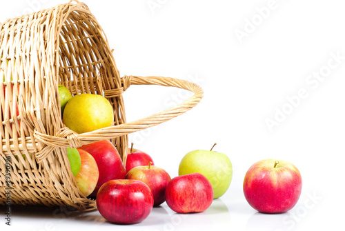 Apple and basket
