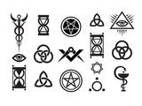 Mystique Symbols set VI. Medieval Magic Stamps poster