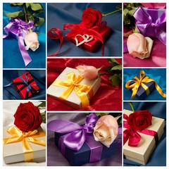 collage pacchi regalo