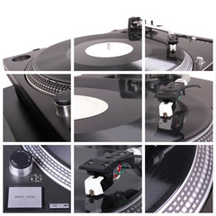 Turntable collage