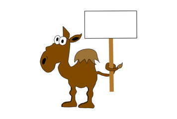 Camel With Sign