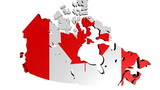 people shaking hands on Canada map flag animation