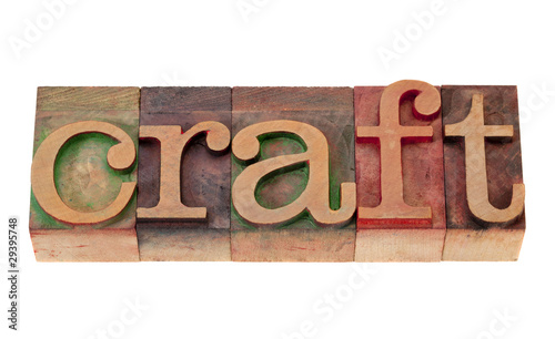 poster of craft in letterpress type