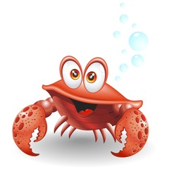 Granchio Cartoon-Crab Cartoon-Vector
