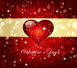 The Valentine's day. Beautiful background