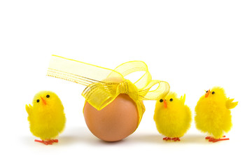 Easter egg and chickens