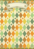 Vintage rhombus pattern poster poster