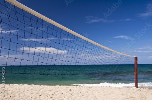 filet de beach volley de delphimages photo libre de droits 29400342 sur. Black Bedroom Furniture Sets. Home Design Ideas