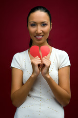 woman with heart in her hands