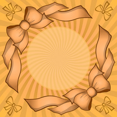 Background with bows and beams