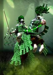 fantasy green knight
