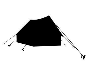Contour of tent on a white background