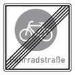 Zeichen 244.2 Ende einer Fahrradstraße