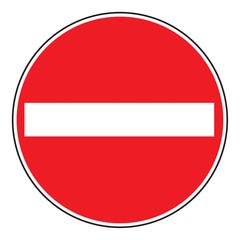 Zeichen 267 Verbot der Einfahrt