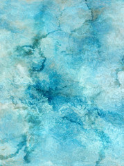 Highly detailed grunge blue wall abckground