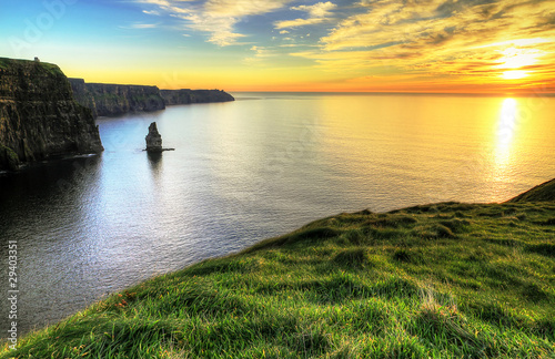 Fototapety, obrazy : Cliffs of Moher at sunset - Ireland
