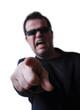 Homme furieux très en colère